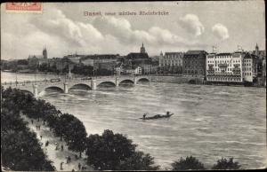 Ak Bâle Basel Stadt Schweiz, Neue mittlere Rheinbrücke