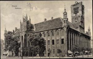 Ak Toruń Thorn Westpreußen, Rathaus