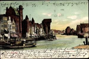 Ak Gdańsk Danzig, Langebrücke