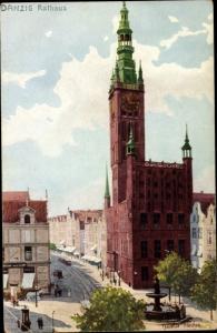 Künstler Ak Tischer, G., Gdańsk Danzig, Rathaus