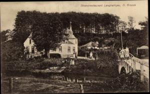 Ak Langballigau an der Flensburger Förde, Strandrestaurant D. Große