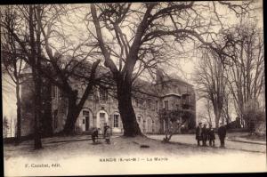 Ak Nangis Seine et Marne, La Mairie