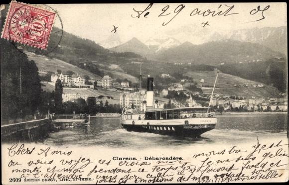 Ak Clarens Montreux Kt Waadt, Débarcadère 0