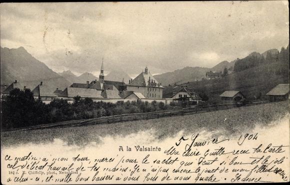 Ak Fribourg Freiburg Stadt Schweiz, Kartause La Valsainte 0