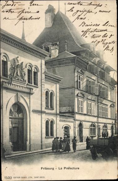 Ak Fribourg Freiburg Stadt Schweiz, La Préfecture 0