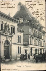 Ak Fribourg Freiburg Stadt Schweiz, La Préfecture