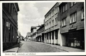 Ak Bünde in Westfalen, Eschstraße mit Volksbank