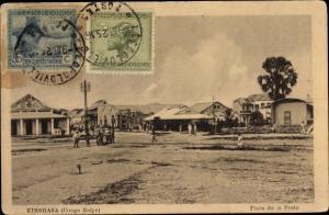 Ak Kinshasa DR Kongo Zaire, Place de la Poste