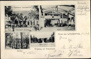 Ak Pechau Magdeburg in Sachsen Anhalt, Gasthof Louisenthal, H. Dichte, Eingang zur Kreuzhorst