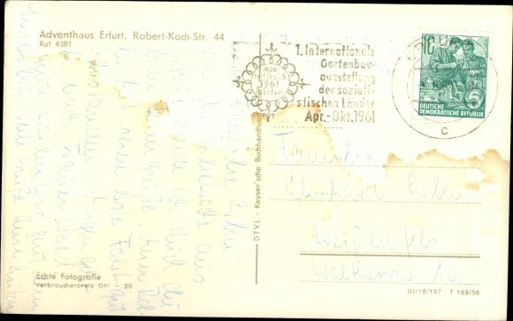 Ak Erfurt in Thüringen, Adventshaus, Robert Koch Straße 44 1