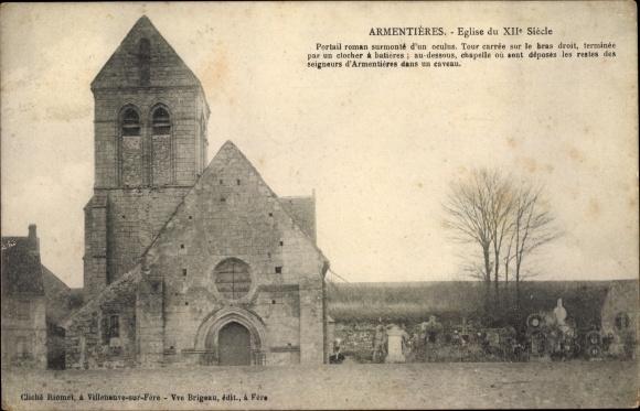 Ak Armentieres Aisne, Eglise 0