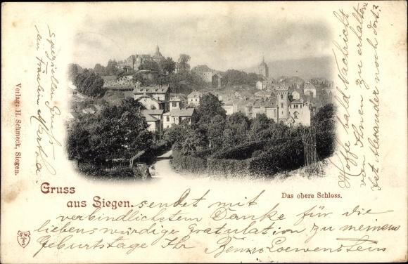 Passepartout Ak Siegen, Das obere Schloss 0