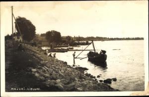 Foto Ak Jurmala Riga Strand Lettland, Majori, Lielupe, Boot