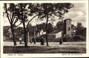 Ak Halbe Kreis Teltow, Partie am Spritzenhaus, Feuerwehrhaus