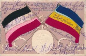 Präge Litho Erinnerung an Vermählung von Kronprinz Wilhelm von Preußen mit Kronprinzessin Cecilie