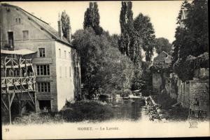 Ak Moret Seine et Marne, Le Lavoir