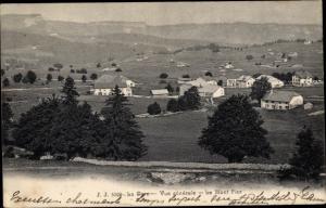 Ak La Cure Kanton Waadt, Gesamtansicht, Le Mont Fier