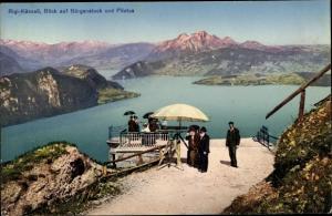 Ak Rigi Kanton Schwyz, Rigi-Känzeli, Bürgenstock, Pilatus