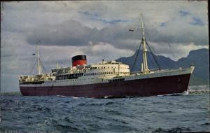 Ak Steamer Capetown Castle, Dampfschiff, Union Castle Line UC