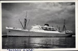 Ak Steamer Durban Castle, Dampfschiff, Union Castle Line