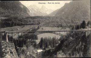 Ak Charmey Freiburg, Pont du Javroz