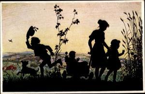 Künstler Ak Winkler, Rolf, Sommerlust, Kinder auf einer Wiese