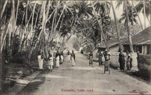 Ak Colombo Ceylon Sri Lanka, Galle road