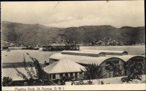 Ak Saint Thomas Amerikanische Jungferninseln, Floating Dock