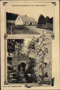 Ak Sophienwalde Ostpreußen, Gasthaus zum Heidesaum, Ernst Abraham