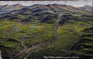 Landkarten Ak Cieplice Śląskie Zdrój Bad Warmbrunn Riesengebirge Schlesien, Panorama, Photochromie