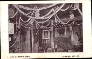 Ak Bersted Bognor Regis South East England, View of Stamp Room
