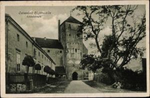 Ak Darłowo Rügenwalde in Pommern, Schlossstraße, Tor