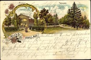 Litho Pęklewo Panklau Elbląg Elbing Westpreußen, Forsthaus, Halteplatz