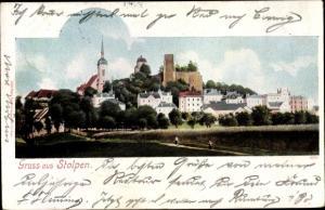 Ak Stolpen in der Sächsischen Schweiz, Stadt