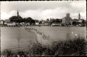 Ak Kappeln an der Schlei, Stadtpanorama, Ellenberg, Reuse