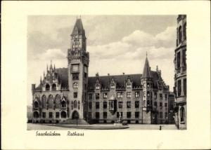 Ak Saarbrücken im Saarland, Rathaus