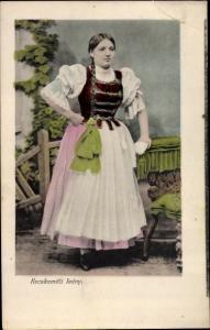 Ak Kecskemét Ketschkemet Ungarn, Kecskemeti leany, Frau in Tracht