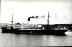 Ak Steamer Hector, Dampfschiff, Blue Funnel Line