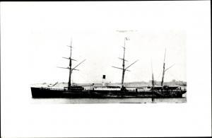 Foto Ak Steamer Agamemnon, Dampfschiff, Blue Funnel Line