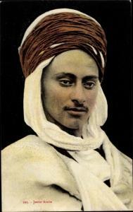 Ak Jeune Arabe, Araber, Turban, Maghreb