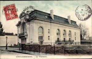 Ak Coulommiers Seine et Marne, Le Theatre