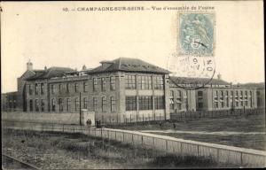 Ak Champagne sur Seine Seine et Marne, Vue d'Ensemble de l'usine