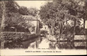 Ak Crecy en Brie Seine et Marne, Les bords du Morin
