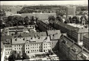 Ak Neubrandenburg in Mecklenburg, Blick vom Hochhaus