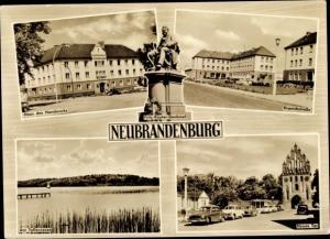Ak Neubrandenburg in Mecklenburg, Haus des Handwerks, Kranichstraße, Tollensee, Neues Tor