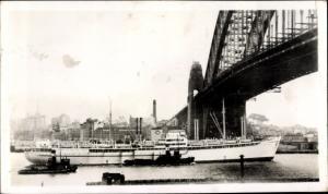 Ak Melbourne Australien, Dampfschiff