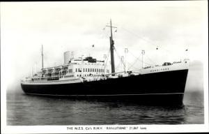 Ak Steamer Rangitane, Dampfschiff, New Zealand Line