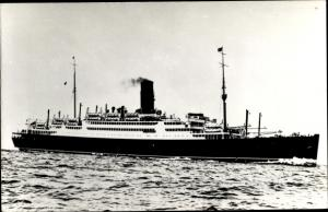Foto Ak Steamer Tuscania, Dampfschiff, Cunard Line