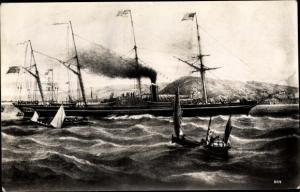 Künstler Ak Steamer Great Western, Dampfschiff, Great Western Steamship Co