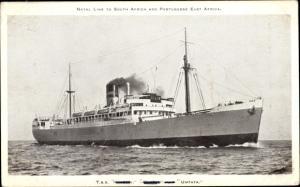 Ak Steamer Umtata, Dampfschiff, Natal Line